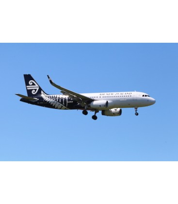 Poster - Air New Zealand A320 Silver Fern