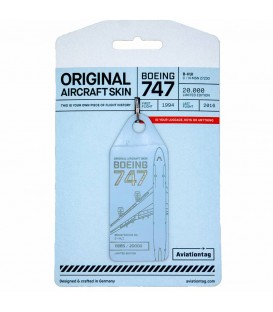 Aviationtag Boeing 747 B-HUI Light Blue