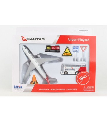 Qantas Airport Playset 8 Pieces