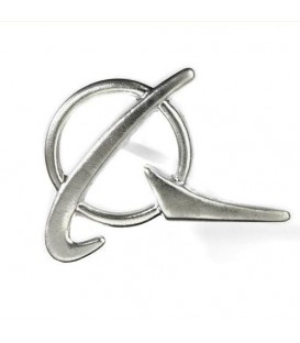 Boeing Logo Siliver Lapel Pin
