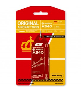 Aviationtag Iberia Airbus A340 EC-GUP - Dark Red
