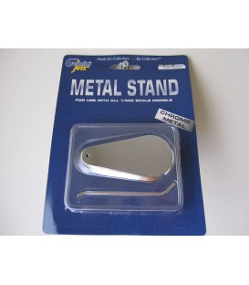 Gemini Jets Diecast Chrome Stand For 1:400 Scale Models