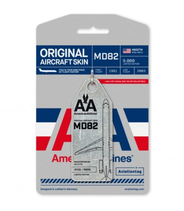 Aviationtag American Airlines MD82 N922TW