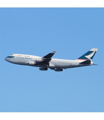 Aviationtag Cathay Pacific Boeing 747 B-HUJ Light Blue