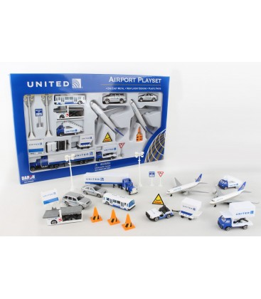 United Airlines Large Airport Playset