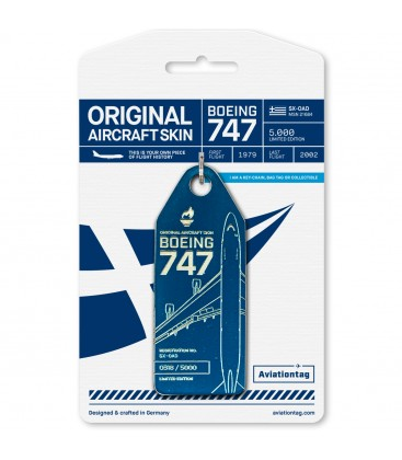 Aviationtag Olympic Airways Boeing 747-200 SX-OAD Blue