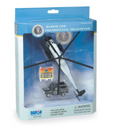 Marine One Presidential Helicopter 3 Piece Playset