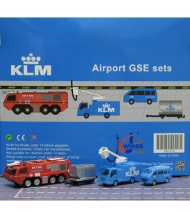KLM Ground Support Equipment set 6 1:200